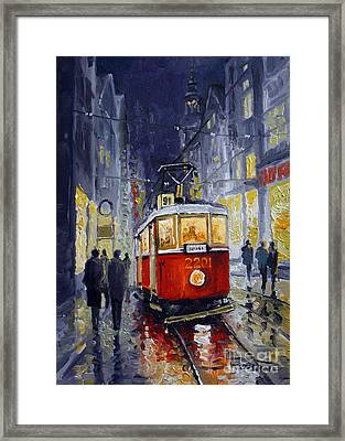 Prague Old Tram 06 Framed Print