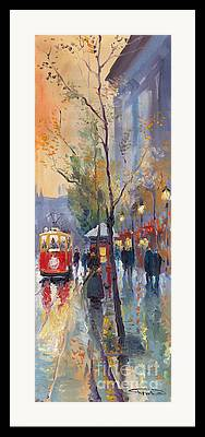 Streetscape Paintings Framed Prints