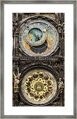 Prague Orloj Framed Print by Heather Applegate