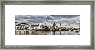 Prague Panorama Framed Print by Heather Applegate