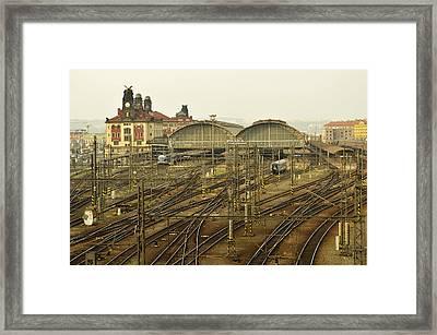 Prague Railroad Station Framed Print by Marek Stepan