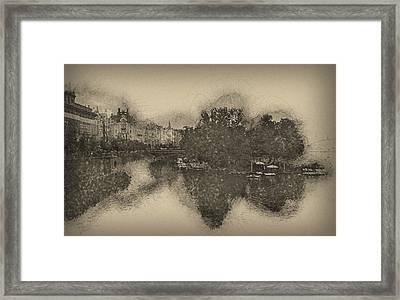 Prague Reflections Framed Print