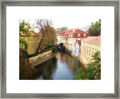 Framed Print featuring the photograph Prague River Scene by LeAnne Sowa