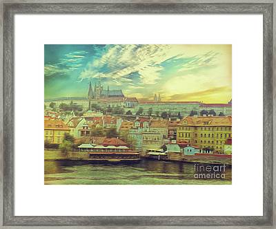 Prague Riverview Framed Print