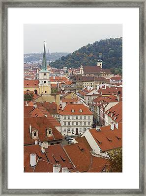 Prague Rooftops Framed Print by Chris Smith