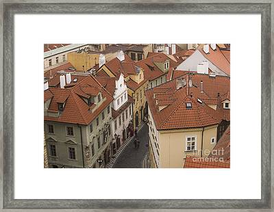 Prague Rooftops Framed Print by Juli Scalzi