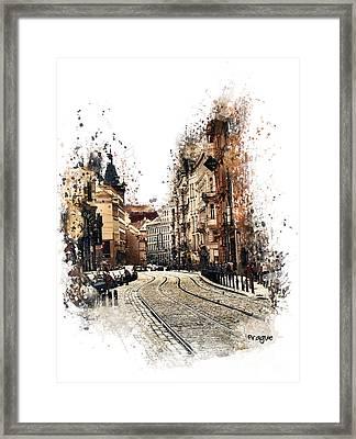 Prague Street Art Framed Print