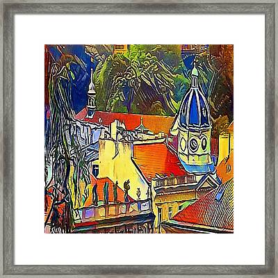 Prague Theater - My Www Vikinek-art.com Framed Print