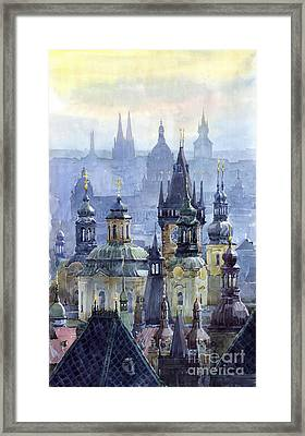 Prague Towers Framed Print