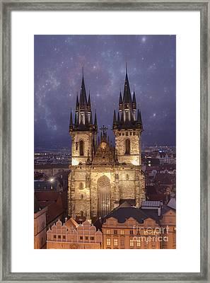 Prague.  Tyn Church Framed Print by Juli Scalzi