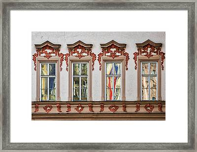 Framed Print featuring the photograph Prague Window Reflections by Stuart Litoff