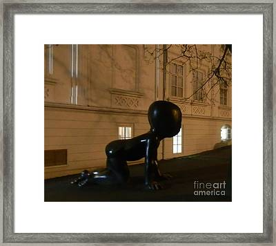 Prague's Faceless Baby Statue Framed Print