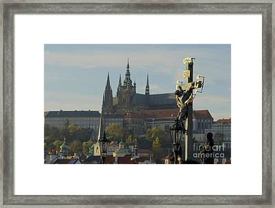 Praha, Charles Bridge Framed Print