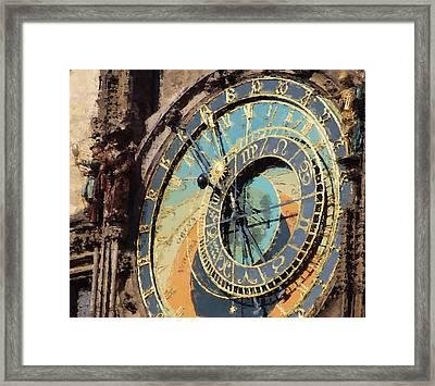 Praha Orloj Framed Print