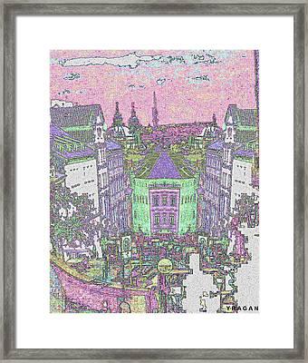 Framed Print featuring the digital art Praha by Yury Bashkin