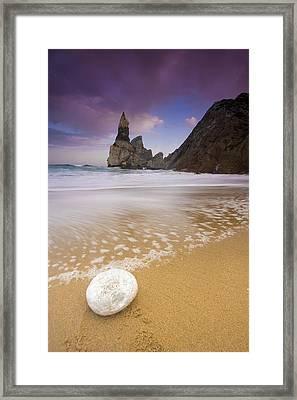 Praia Da Ursa Framed Print by Andre Goncalves