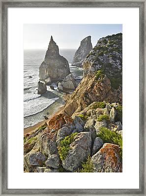 Framed Print featuring the photograph Praia Da Ursa  by Marek Stepan