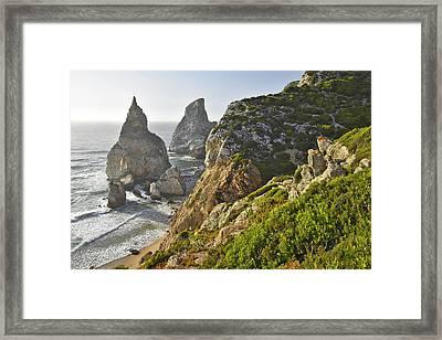 Framed Print featuring the photograph Praia Da Ursa Portugal by Marek Stepan