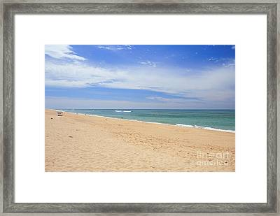 Praia De Faro Framed Print by Carl Whitfield