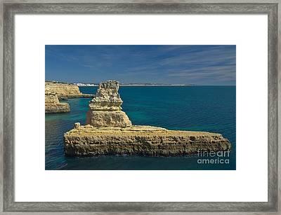 Praia Deserta In Algarve Framed Print