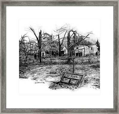 Prair. Cemetary  Framed Print by David M Pigg