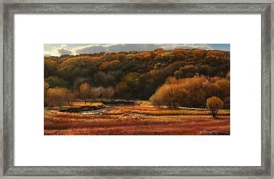 Prairie Autumn Stream No.2 Framed Print by Bruce Morrison