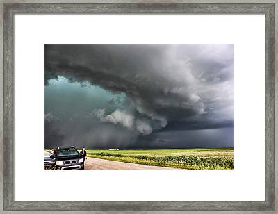 Framed Print featuring the photograph Prairie Beast by Ryan Crouse