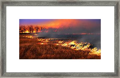 Prairie Burn Framed Print