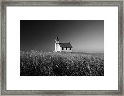 Prairie Chapel Framed Print by Todd Klassy