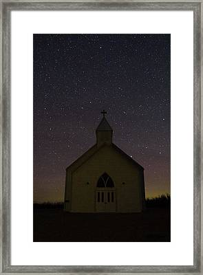 Prairie Church Framed Print