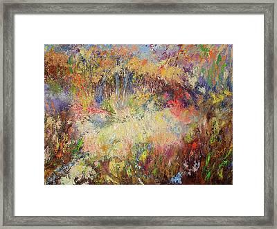 Prairie Dance Framed Print by Rose Fisher
