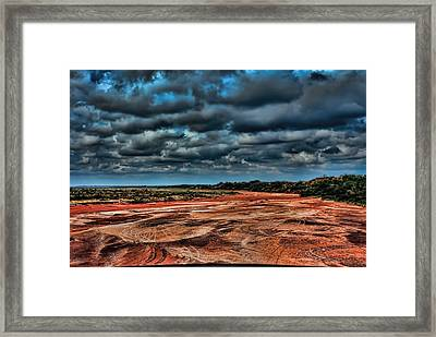 Prairie Dog Town Fork Red River Framed Print by Diana Mary Sharpton