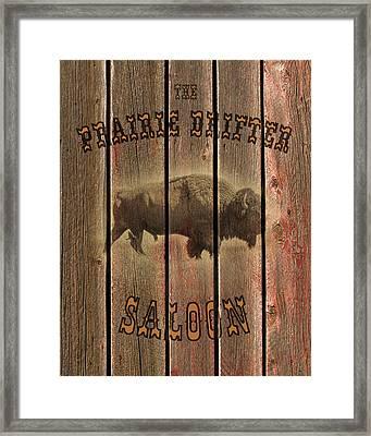 Prairie Drifter Saloon Framed Print by TL Mair