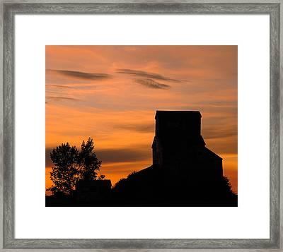 Prairie Dusk Framed Print by Tony Beck