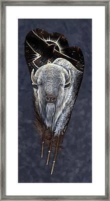 Prairie Eclipse Framed Print by Sandra SanTara