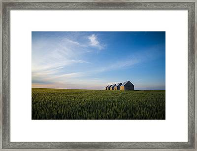 Prairie Evening Framed Print