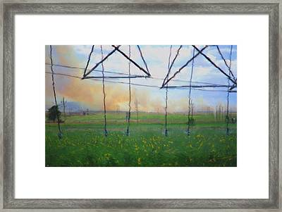 Prairie Fire Heat Framed Print