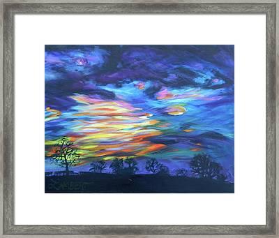 Prairie Fireworks 3 Framed Print