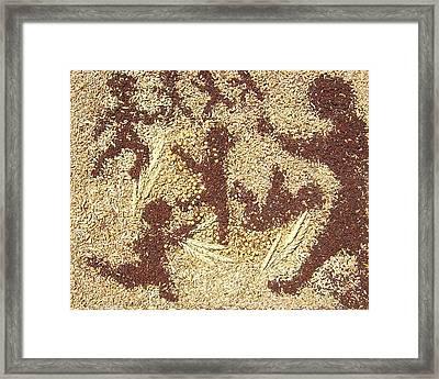 Prairie Grain Dance Framed Print by Naomi Gerrard