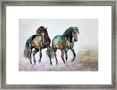 Prairie Horse Dance Framed Print