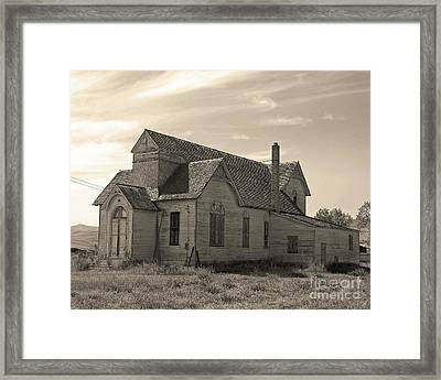 Prairie House Framed Print