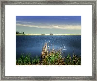 Prairie Lake Framed Print