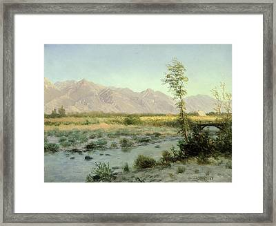 Prairie Landscape Framed Print by Albert Bierstadt