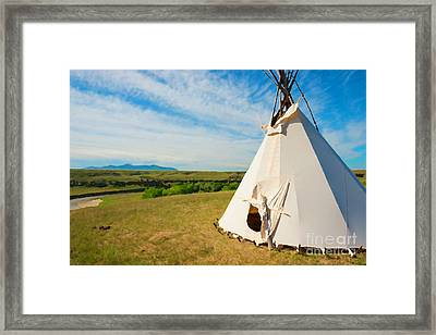 Prairie Lookout Framed Print by Christopher Price