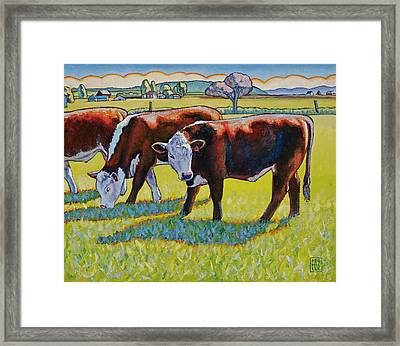 Prairie Lunch Framed Print