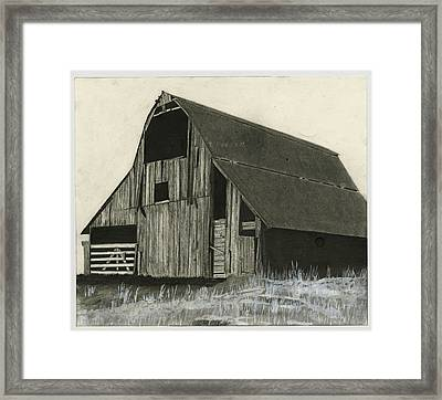 Prairie Overlook Framed Print by Bryan Baumeister
