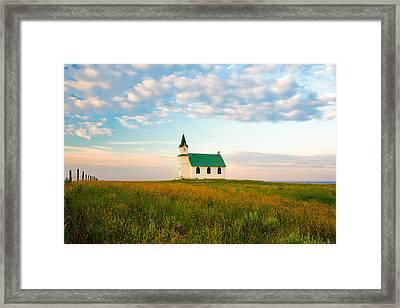 Prairie Parish Framed Print by Todd Klassy