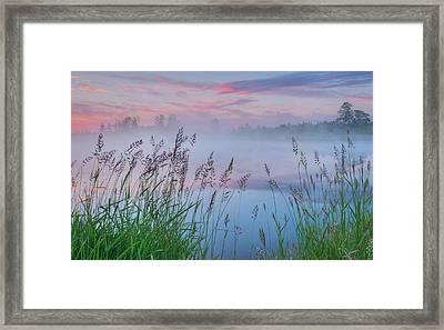 Framed Print featuring the photograph Prairie Pond Before Sunrise by Dan Jurak