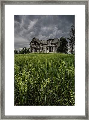 Prairie Rain  Framed Print by Aaron J Groen