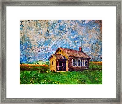 Prairie Schoolhouse Framed Print by Tanya Nevin